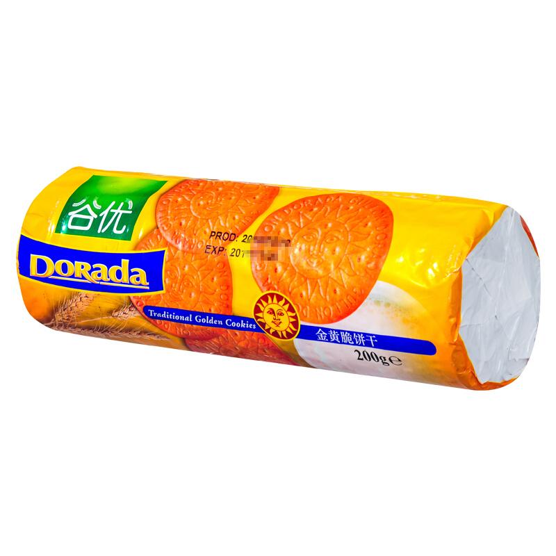 谷优金黄脆饼干200g*3袋