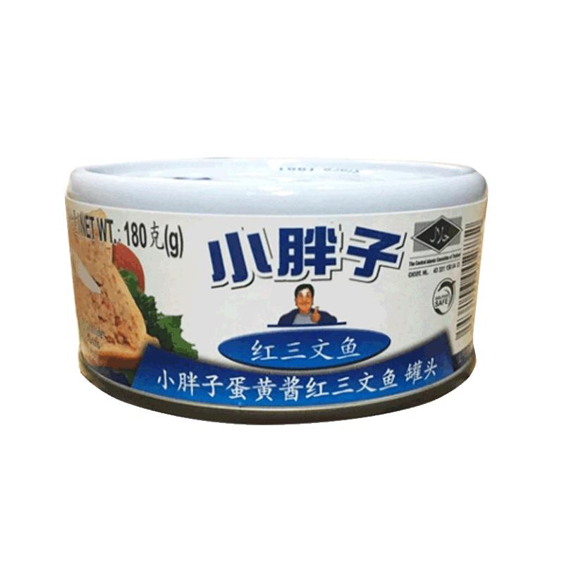 小胖子蛋黄酱红三文鱼罐头180...