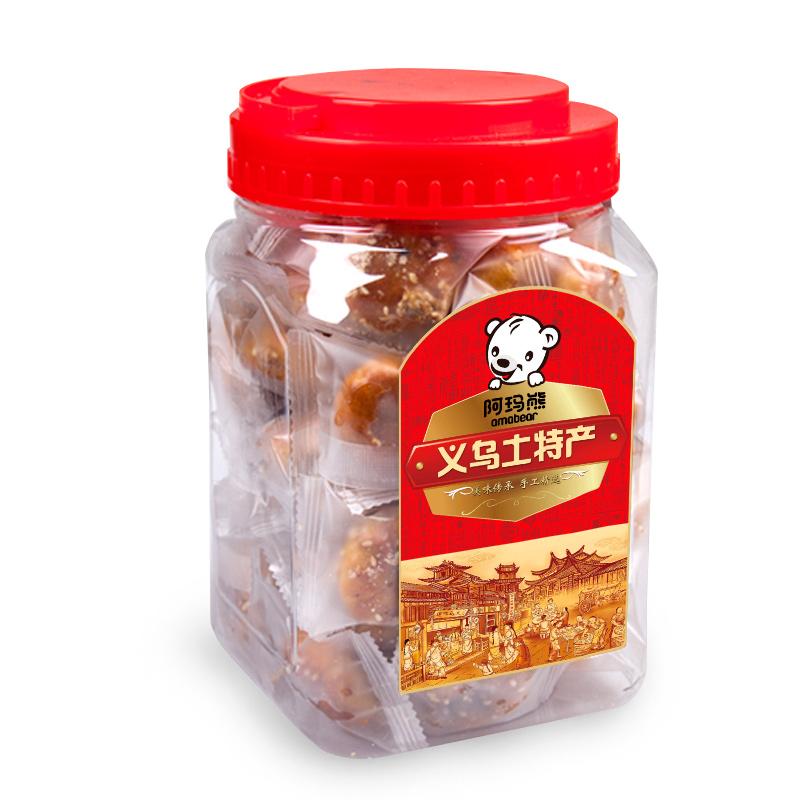 阿玛熊浙江特产红糖小酥饼500g/罐