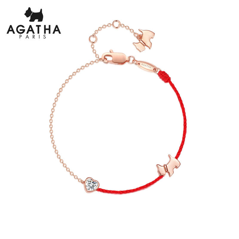 AGATHA/瑷嘉莎 小狗红色...