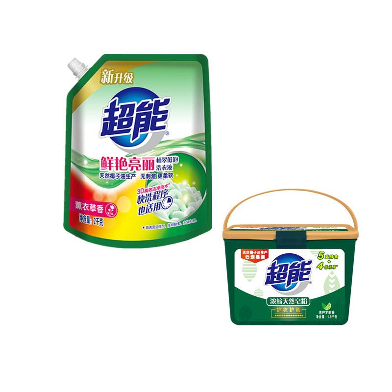2kg超能植翠洗衣液(鲜艳亮丽...