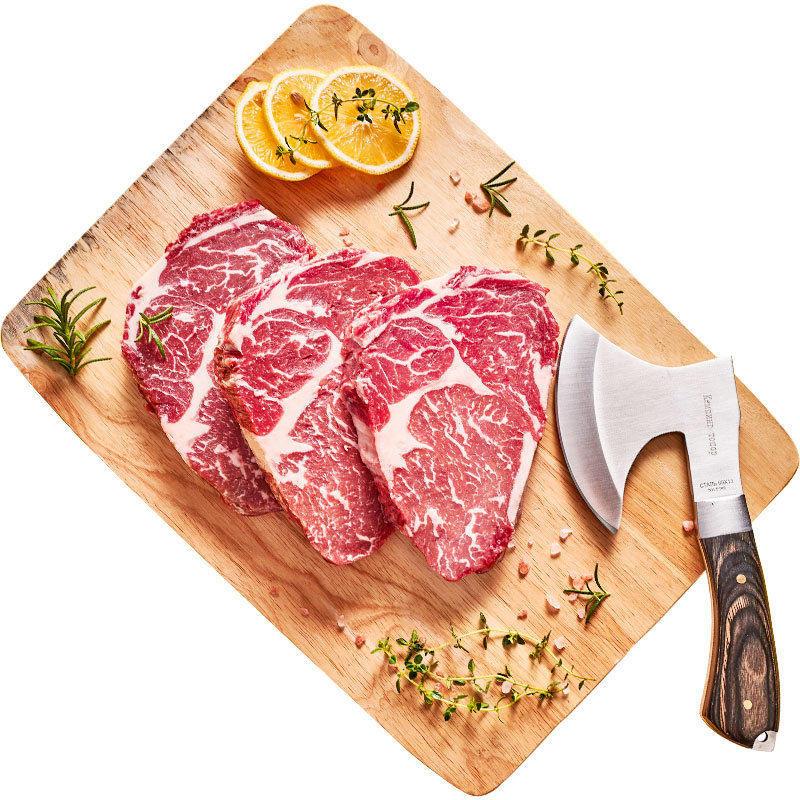 小???原肉整切牛排礼盒100g×10片 送黄油黑椒酱刀叉