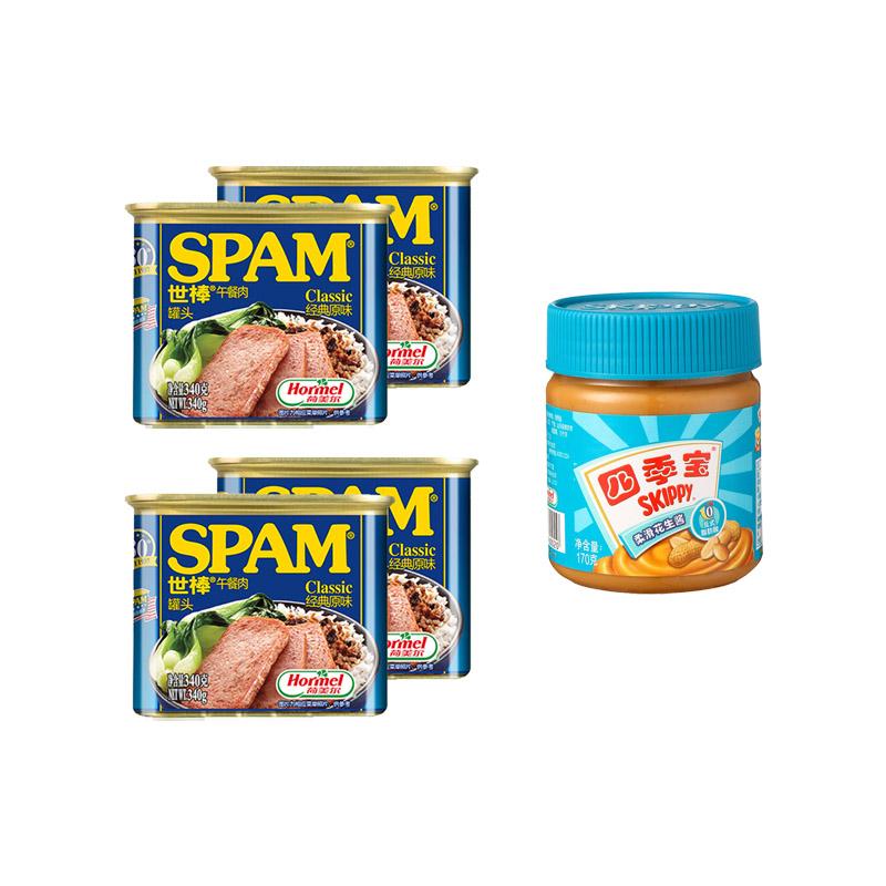 世棒午餐肉340g*4罐(原味...