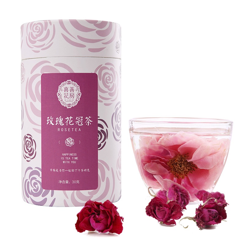 喜善花房 玫瑰花冠茶30g/罐