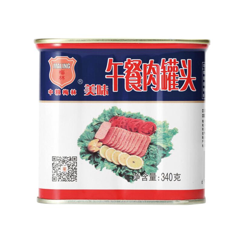 中粮梅林美味午餐肉罐头组合34...