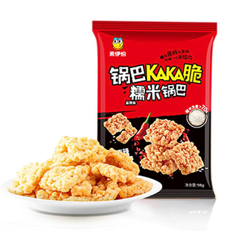 来伊份 糯米锅巴(麻辣味)98g×4袋