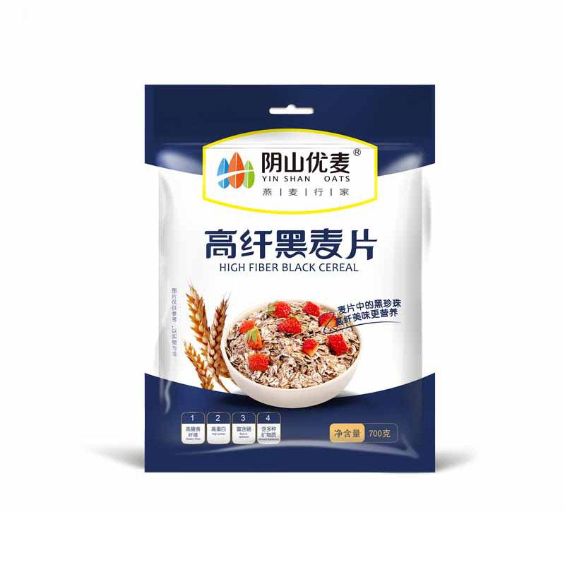 阴山优麦 高纤黑麦片700g*...