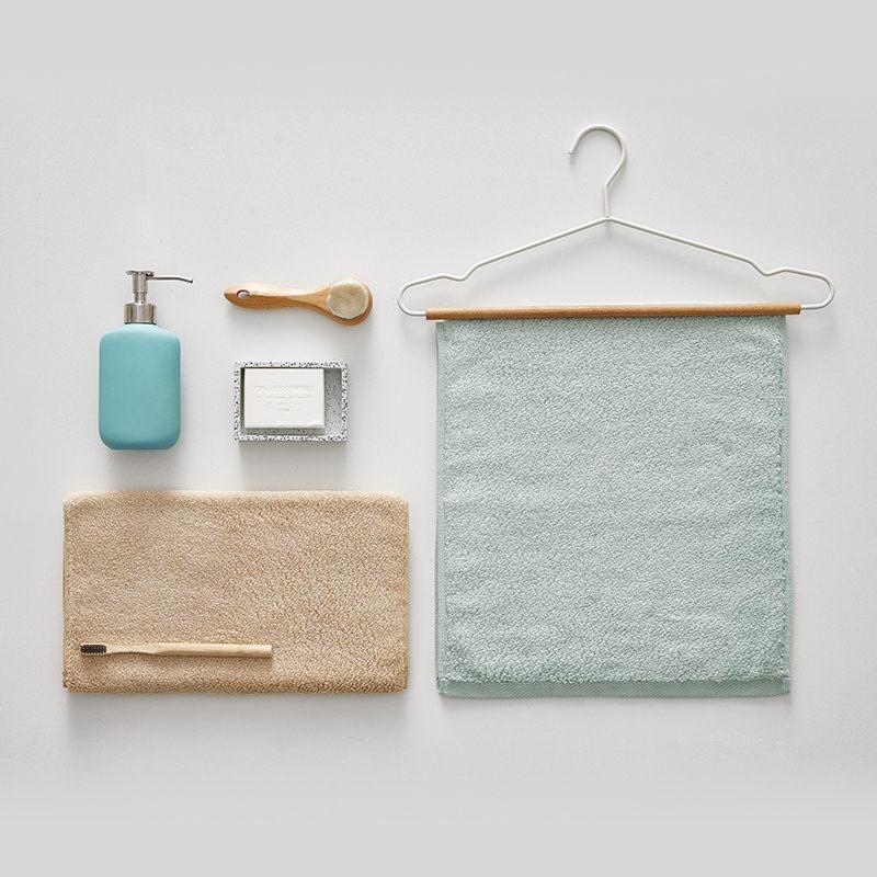 大朴阿瓦提毛巾两条装(纯色+条纹)颜色随机发货 34x76cm