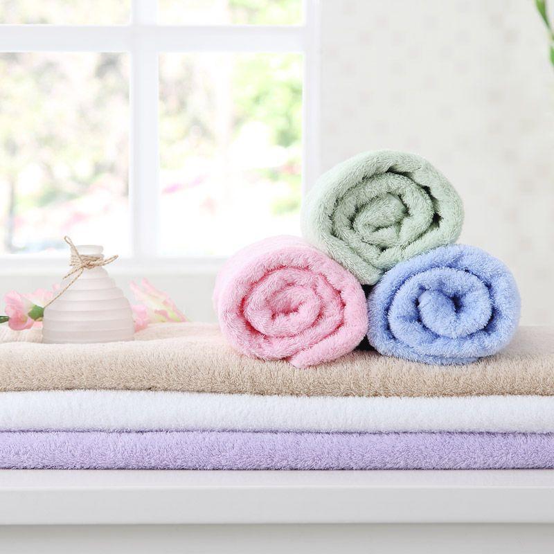大朴埃及长绒棉加厚浴巾70x140cm 紫色