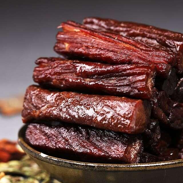 蒙都風干牛肉干七成干250g原味